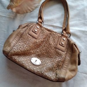Vintage fossil ,100% leather.